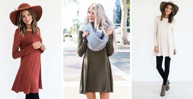 HOT!! Fall Swing Tunic Dress..