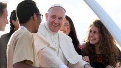 Papa Francisco Cracovia peregrinos audiencia alegría santidad