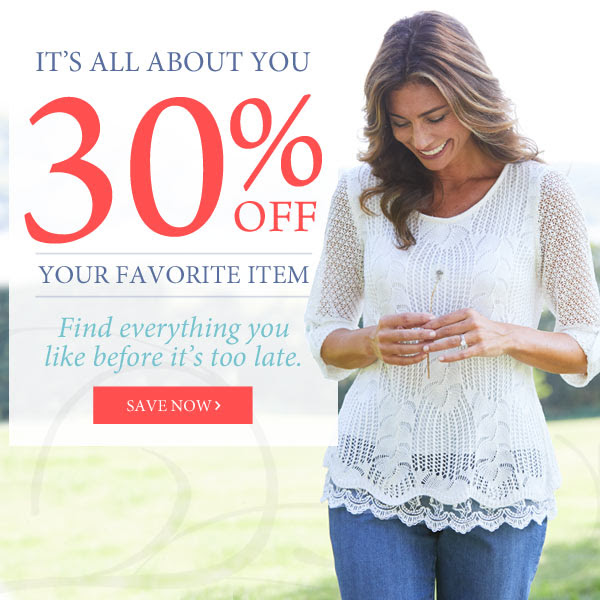 30% off your favorite item