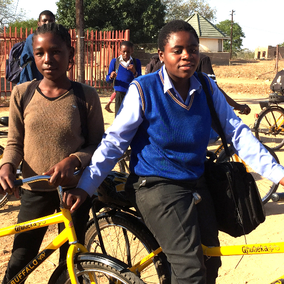 South African Students with bikes