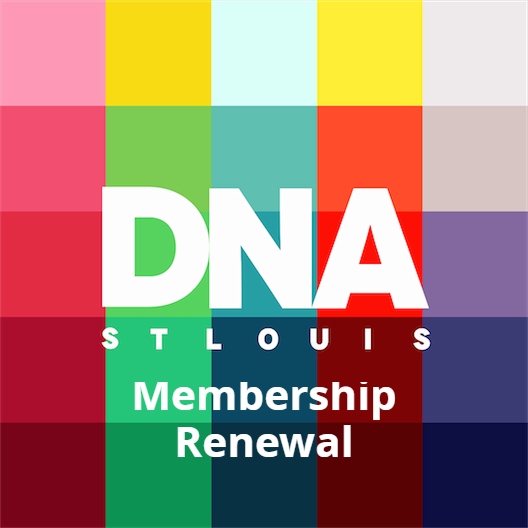 "St. Louis Downtown Neighborhood Association logo with ""Membership Renewal"" added."