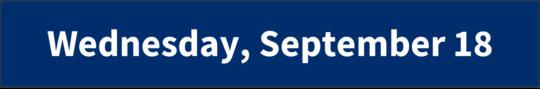 Wednesday, September 18
