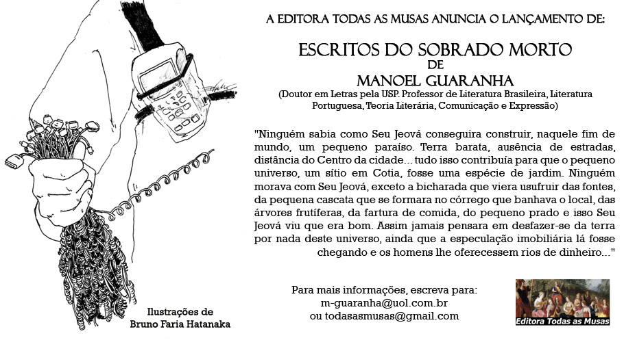 """Lançamento do livro """"Escritos do Sobrado Morto"""" – Editora Todas as Musas"""