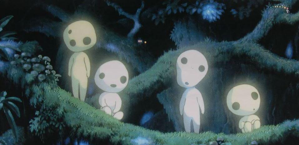 Kodama from Japanese folklore as appeared in _Princess Mononoke_
