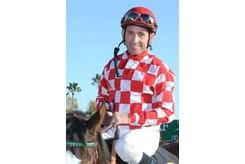 Aaron Gryder is enjoying a successful meet despite limited opportunities at Santa Anita Park