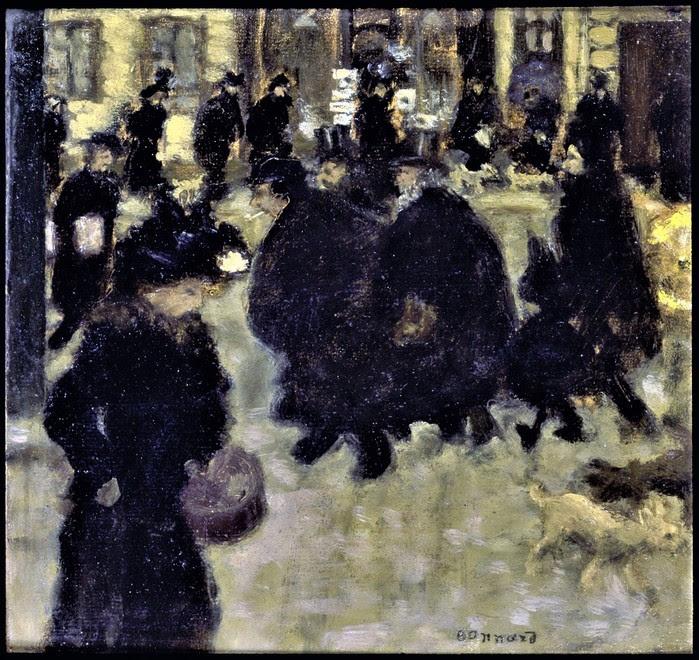 Пьер Боннар    Люди на улице      1894 (700x660, 190Kb)