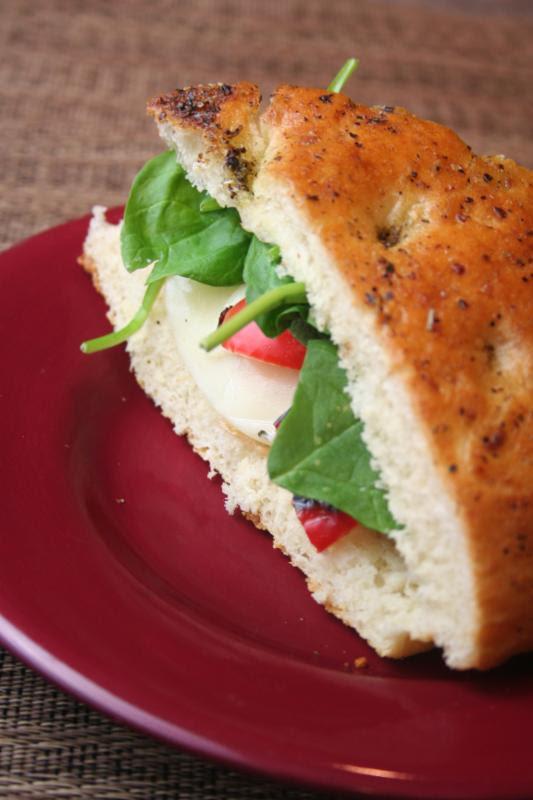 chicken focaccia sandwich