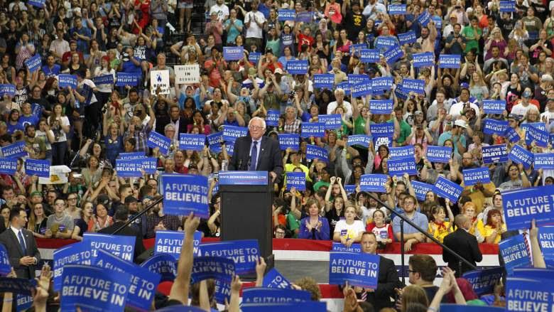 Huge Bernie rally