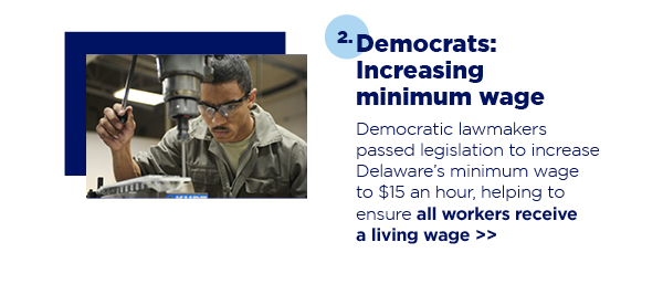 2. Democrats: Increasing minimum wage
