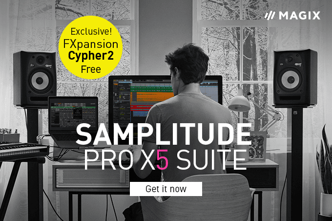 Samplitude Pro X5 Suite included free: FXpansion Cypher2