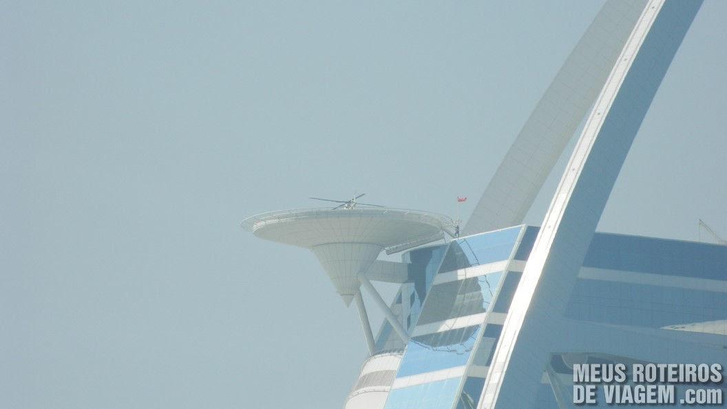 Heliponto do hotel Burj Al Arab - Dubai, Emirados Árabes