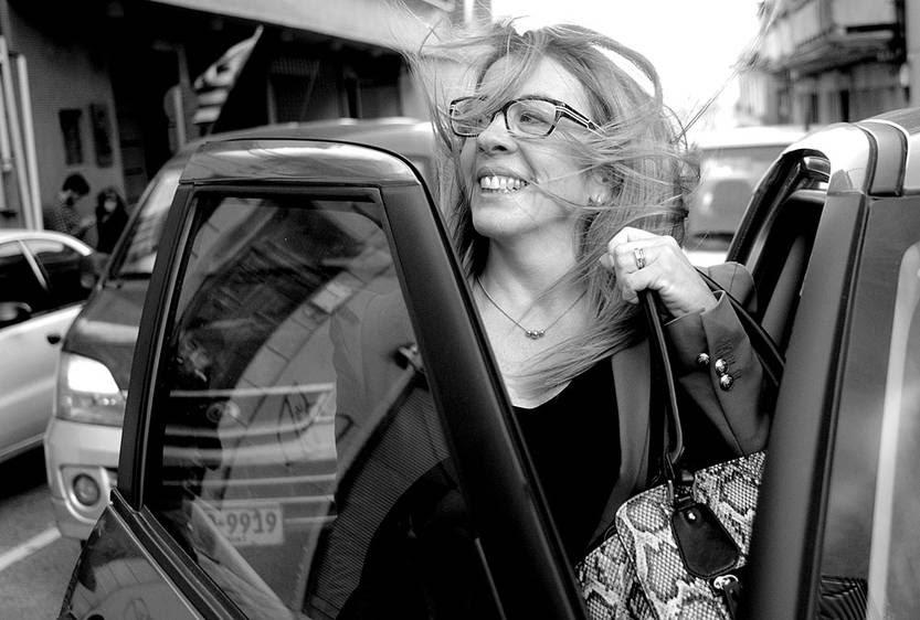 Stella Llorente, fiscal del caso Amodio Pérez, luego de la conferencia de prensa a la salida del juzgado de Juan Carlos Gómez. Foto: Pablo Vignali