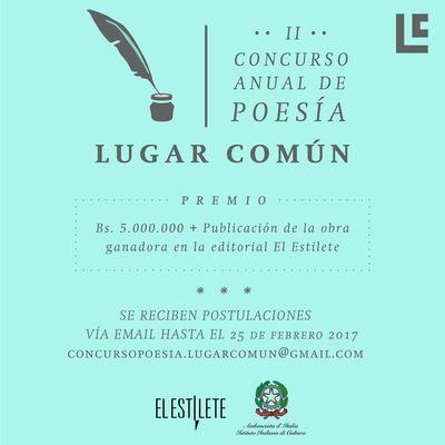 II Concurso Anual de Poesía Librería Lugar Común