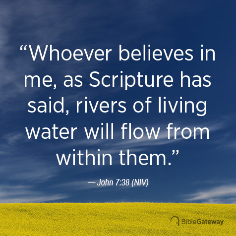 Read John 7:38 on Bible Gateway.