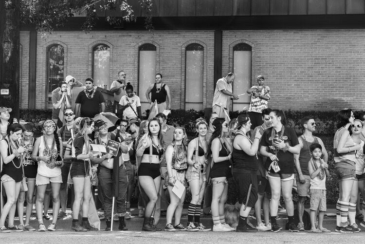 George Georgiou, 'Pride Parade, Dallas, Texas', from the series Americans Parade, 2016,presented at the International Center of Photography, New York