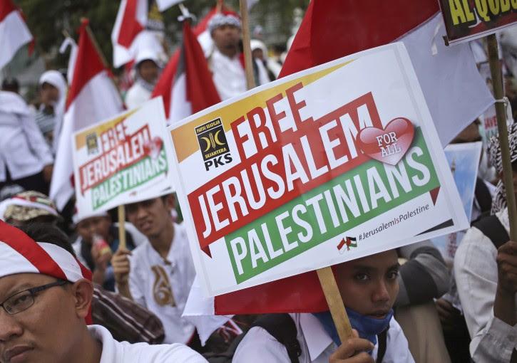 בילד: נאטיצן ארום פרעזידענט טראמפ׳ס ירושלים דעקלעראציע