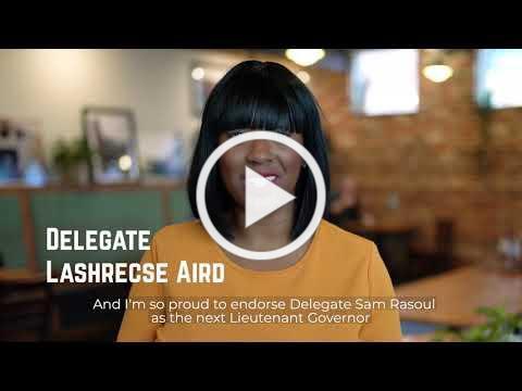 Sen. Hashmi, Sen. Bell, and Del. Aird Endorse Sam Rasoul for LG