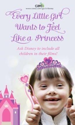 Toda criancinha quer se sentir como uma Princesa. Peça à Disney para incluir todas as crianças em seus filmes!