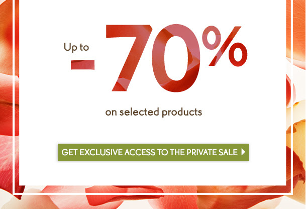 Get exclusive access to the private sale