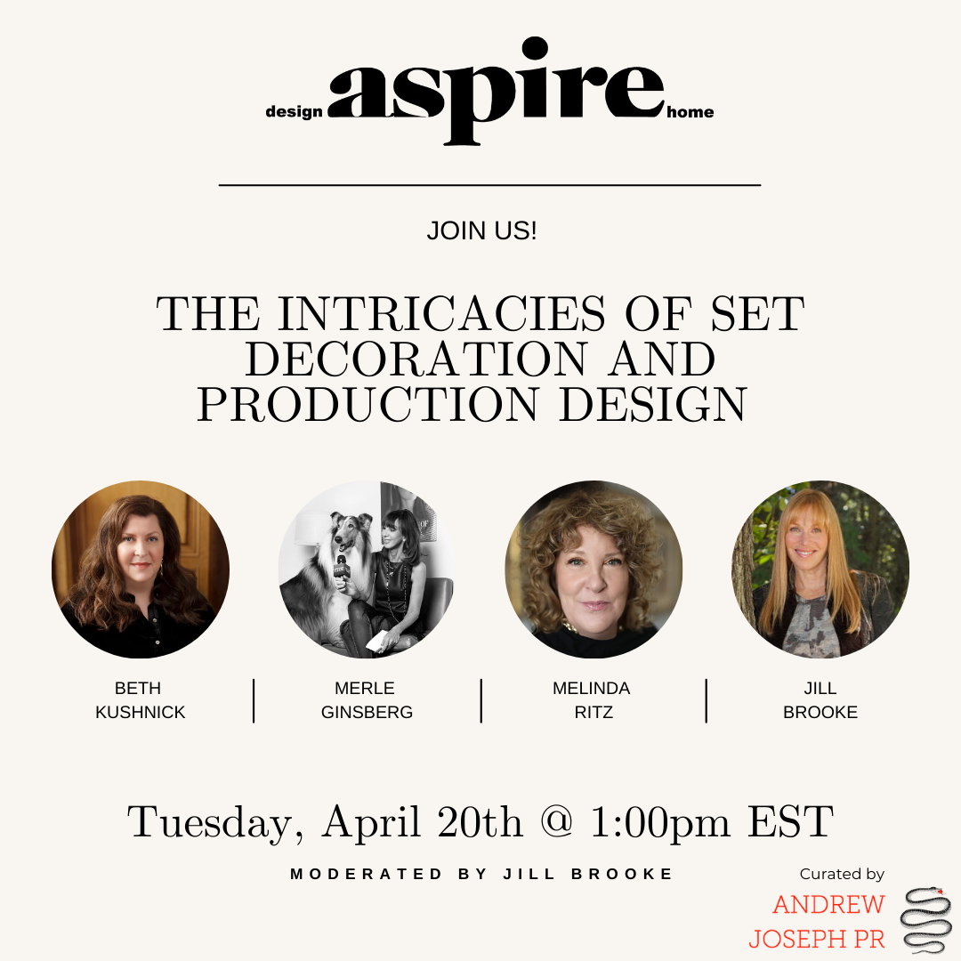 ASPIRE DESIGN AND HOME:A Webinar to Discuss the Intricacies of Set Decoration and Production Design