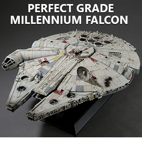 STAR WARS PG 1/72 SCALE MILLENNIUM FALCON MODEL KIT