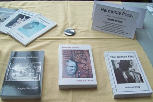 Harmonia Press specializes in work by well-known London poet Andreas Gripp. Also featured is work by Carrie Lee Connel, Dorothy Nielsen and Gregory Wm. Gunn.