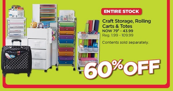Craft Storage, Rolling Carts & Totes