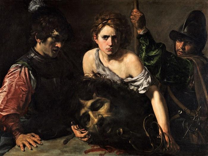 Валантен де Булонь     Давид с головой Голиафа и двумя солдатами      1610-е ,   99?134 см (700x525, 102Kb)