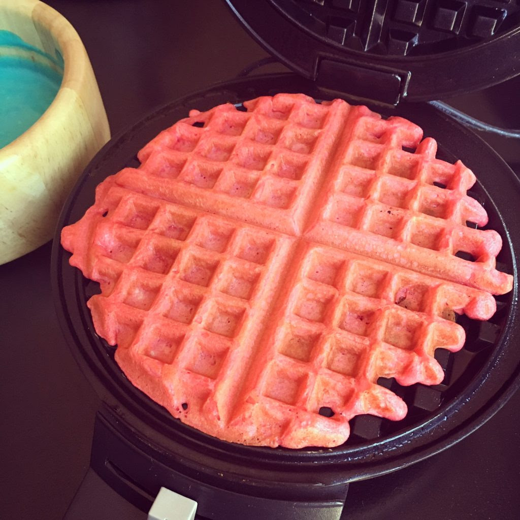 Red, White & Blue - Fruity Waffles
