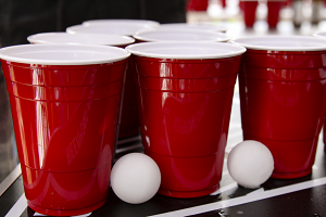 alcohol drinking beer pong college