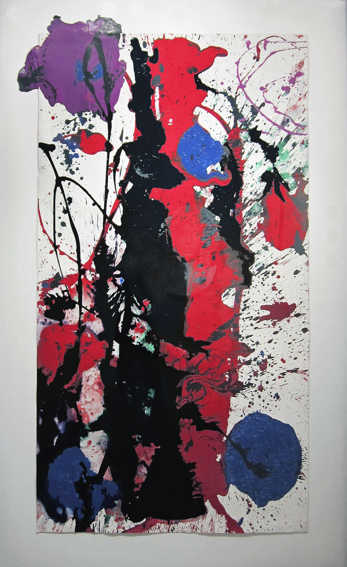 Sam Francis Untitled  SF89112 original 1989- adjust
