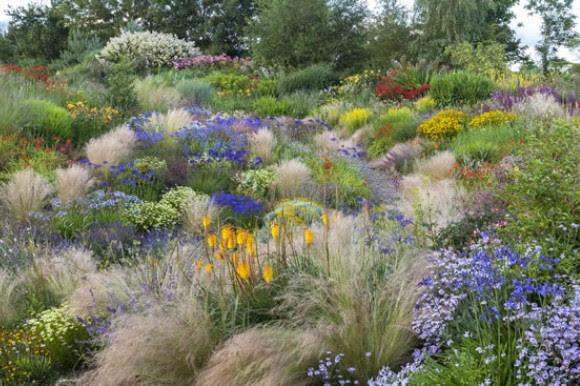 Summer garden slope