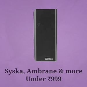 Syska, Ambrane and more Under Rs.999