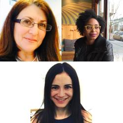 Individual headshots of Donna Meltzer, Michelle Grier, and Gabrielle Einstein-Sim