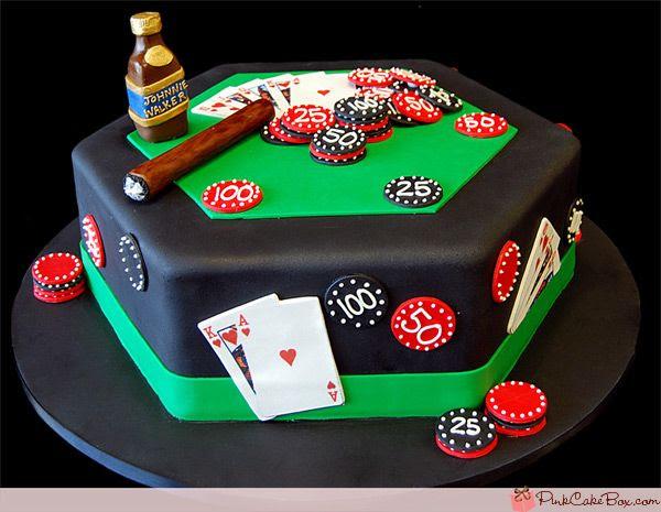 Happy Birthday Poker Cake » Birthday Cakes | Poker cake, Casino ...