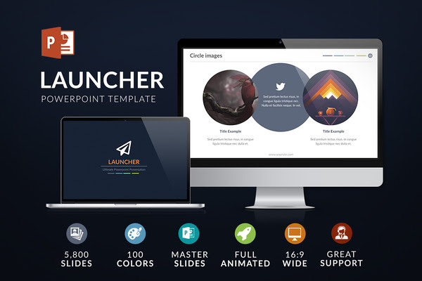 Launcher | Powerpoint template