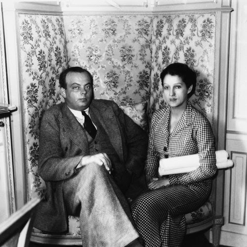 Antoine de Saint-Exupéry and his wife in Paris.