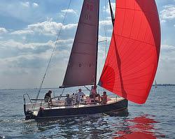 J/88 Wings- Mike Bruno- sailing Long Island Sound