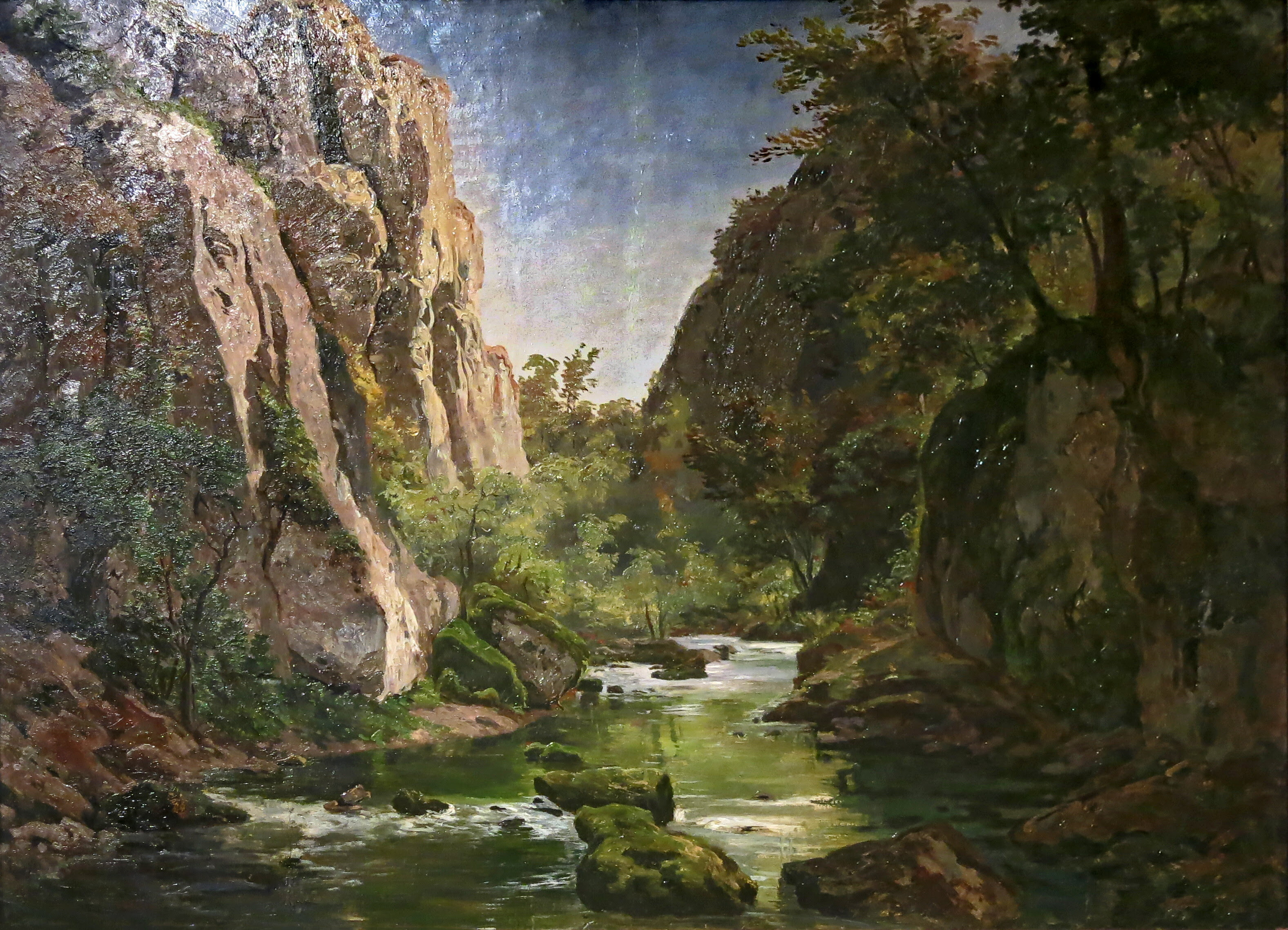 A painting of the Neander Valley