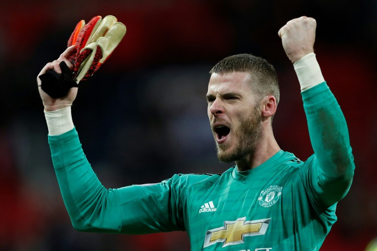 De gea makes 11 saves as Manchester United beat Tottenham at Wembley 1-0