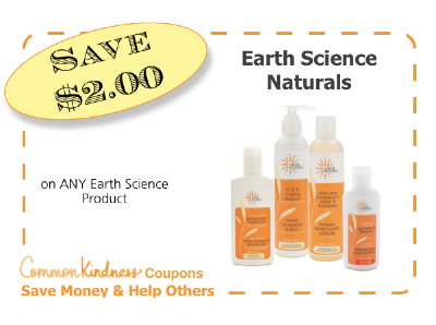 Earth Science Naturals CommonKindness coupon