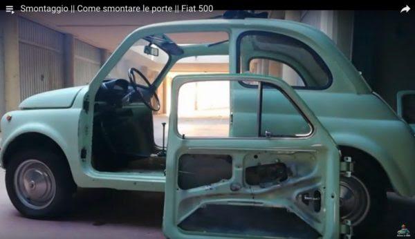 le portiere della Fiat 500 d'epoca