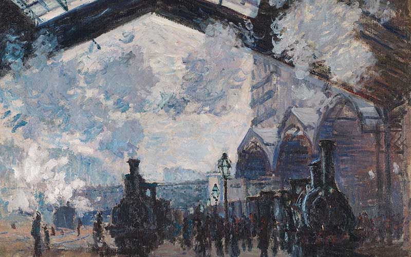 Claude Monet, 'The Gare St-Lazare', 1877 © The National Gallery, London