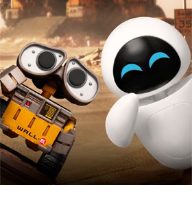 Wall-E Mini Mini Egg Attack MEA-029 Wall-E & Eve Two-Pack
