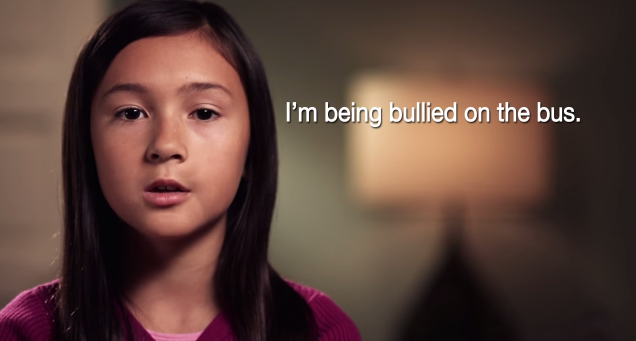 Young girl says,