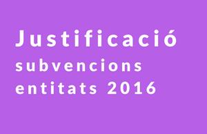 Imatge de la notícia  Recomanacions per la justificació de les subvencions a entitats 2016