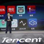 Lin Songtao, vice-président de Tencent Mobile Business Group, opérateur de Wechat, le plus grand réseau social chinois, lors d'une conférence de presse à Haikou, dans le sud de la Chine, le 23 avril 2016.