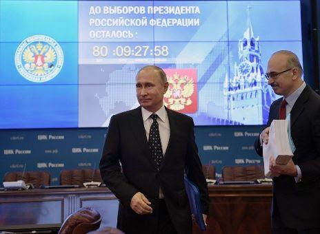 Putin presenta candidatura a comicios presidenciales de 2018