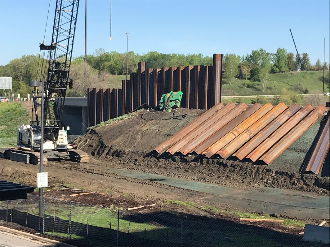 Pile Supported Retaining Wall Adjacent to SouthWest Station in Eden Prairie 2