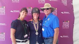 Brittni Raflowitz and Baloumina Du Ry, NAJYRC Individual Silver Medalists in Showjumping - July 18, 2015